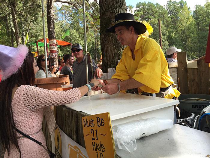Renaissance-Festival-Beer-Stall