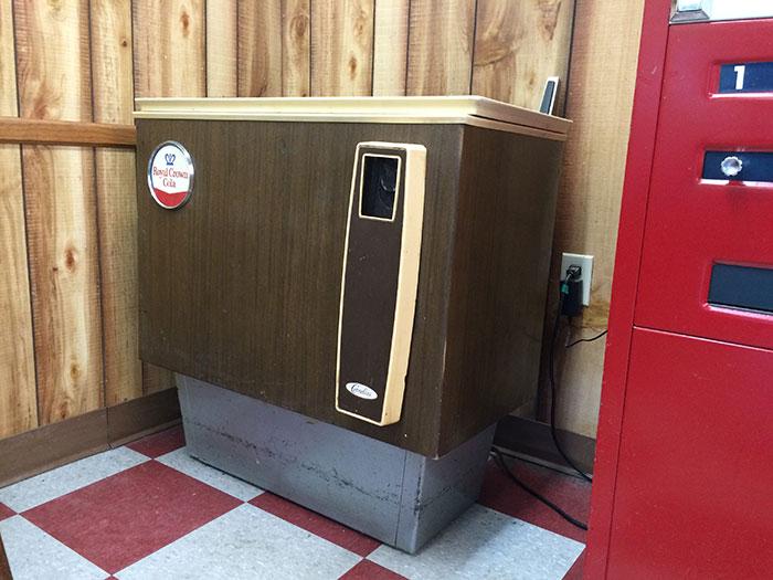 RC cola vending machine