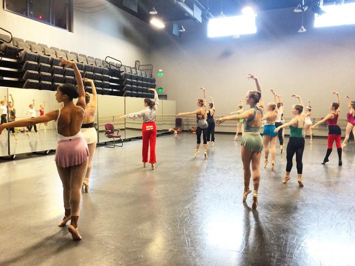 Charlotte Ballet rehearsal