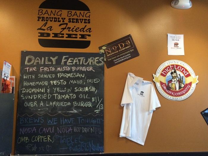 Bang Bang Burger special