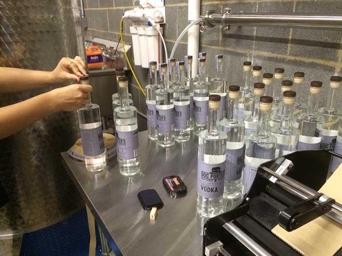 labeling-vodka-at-doc-porter's