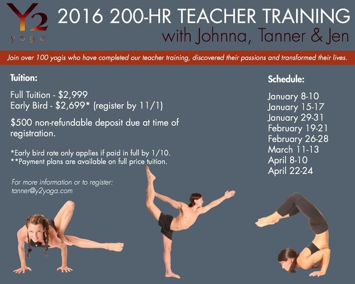 Y2 Yoga teacher training