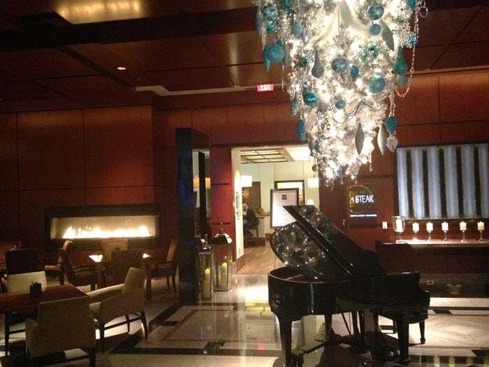 Ritz Charlotte Christmas lobby
