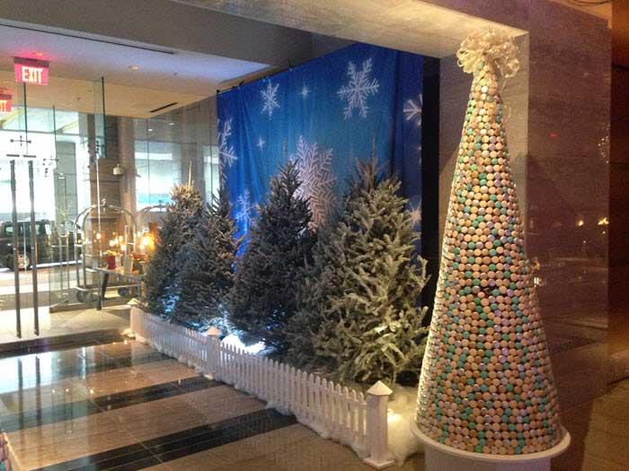 Ritz Charlotte Christmas entrance