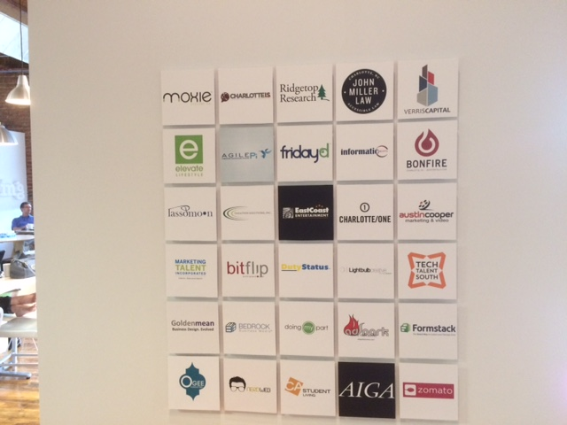 charlotte startups at industry coworking