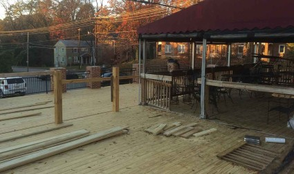 10 new patios being built right now that you're going to...