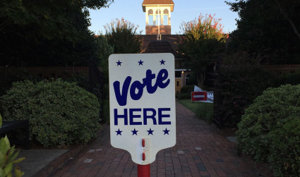 In east Charlotte, it's time to vote again already. A runoff...