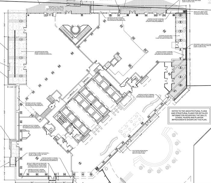 bank-of-america-plaza-renovation-site-plan