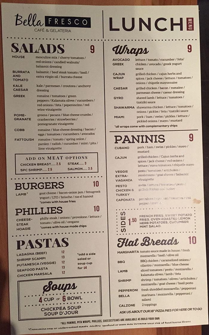 bella-frisco-lunch-menu
