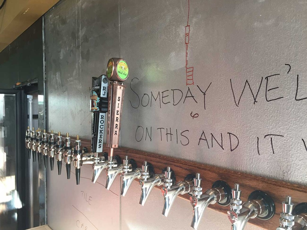 Growler USA has installed its taps and will open next month near Ballantyne