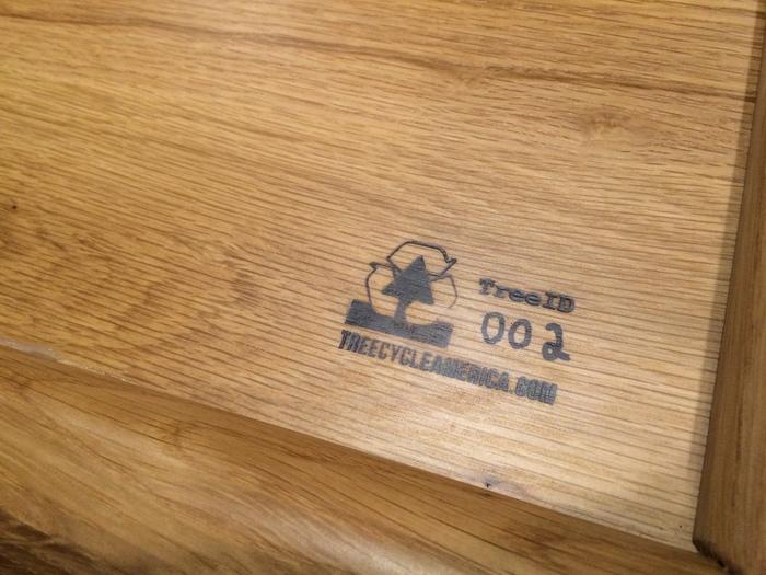 wood serial number white oak charlotte bar