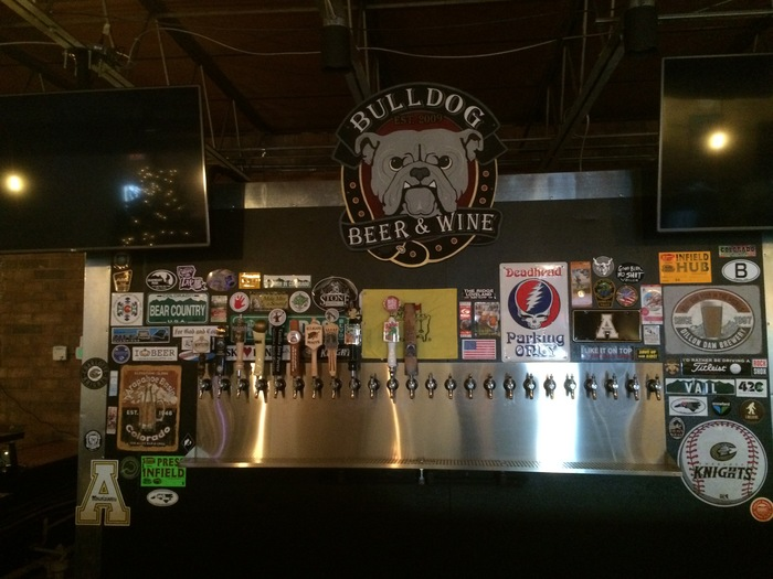 taps bulldog beer and wine south end