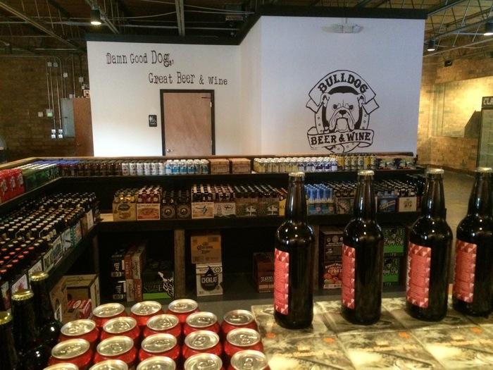 beer selection bulldog wine and beer