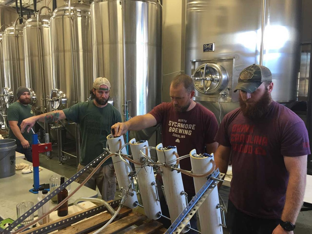 The Sycamore Brewing crew hand-filled 1,000 bottles and people are going to camp out for them