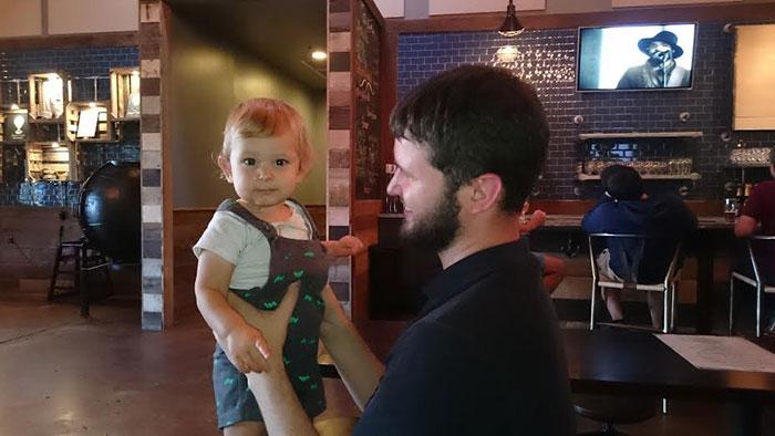Baby at Sugar Creek Brewery