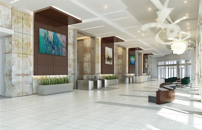 New BofA Plaza lobby
