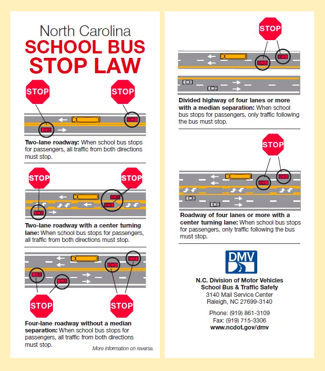 NCDOT Bus Stop Law