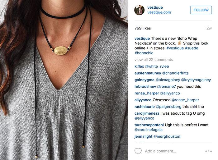 vestique necklace