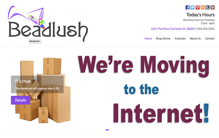 beadlush moving to internet