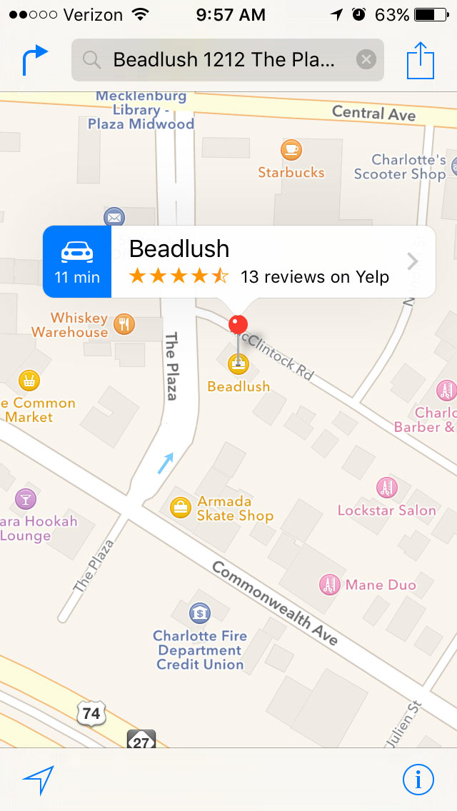 beadlush map