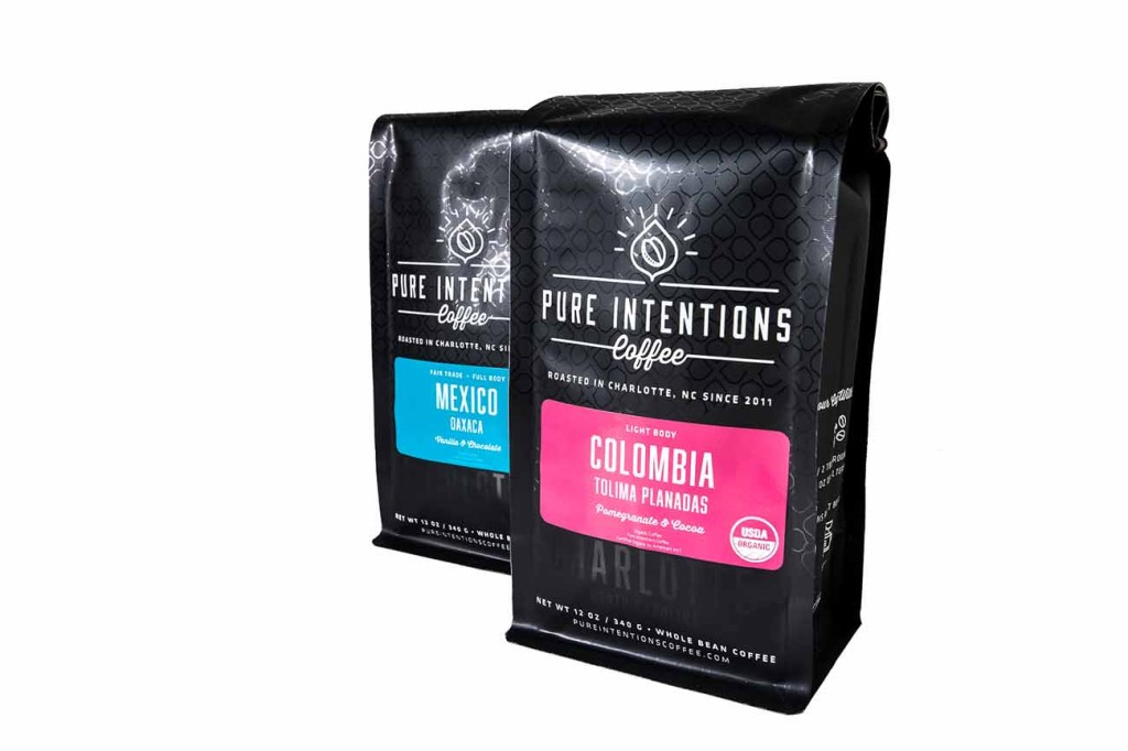 Try Pure Intentions Coffee for yourself — from the only Fair Trade & Organic Certified roaster in Charlotte