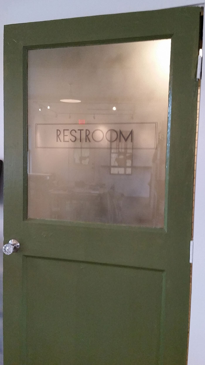 green-restroom-door