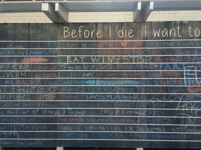 before i die wall charlotte nc