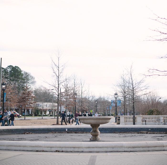 little-sugar-creek-greenway-fountain