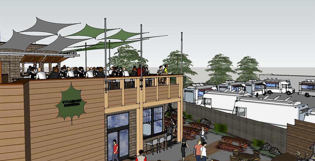 FIRST LOOK: Here's what Sycamore Brewing's new taproom and Food Truck Friday setup will look like