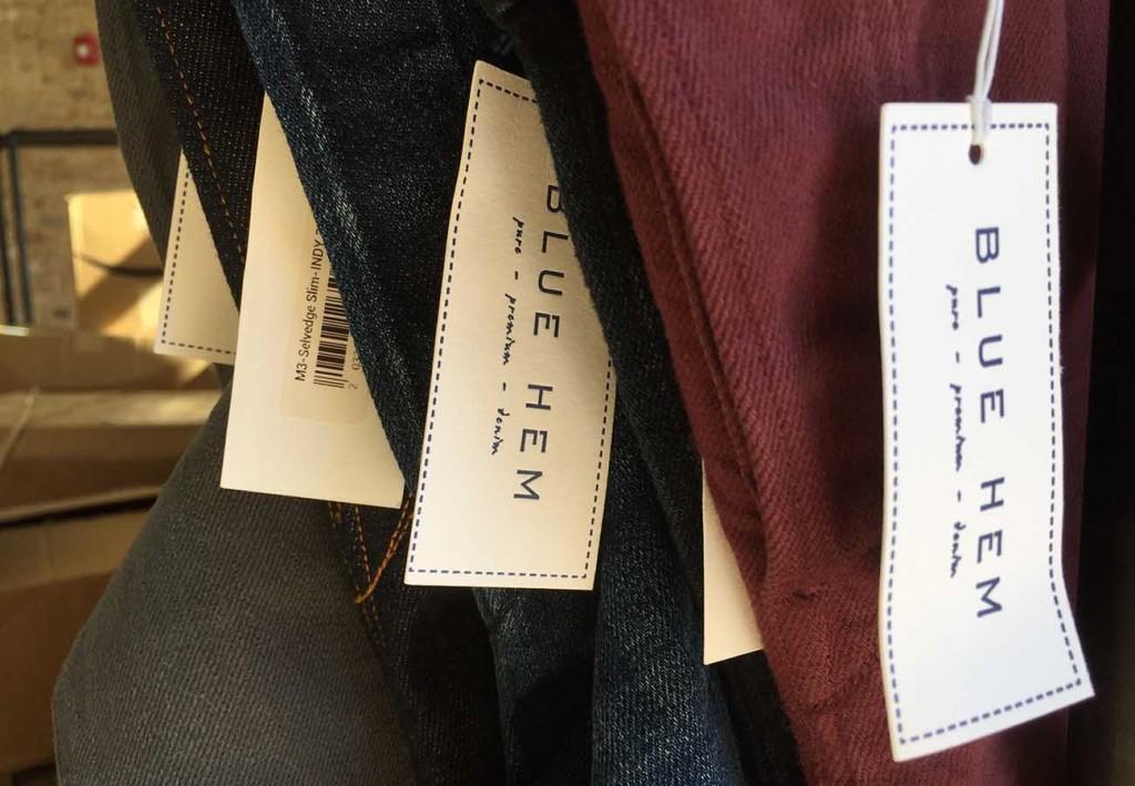 Denim boutique Blue Hem opens tomorrow in South End. Peek inside