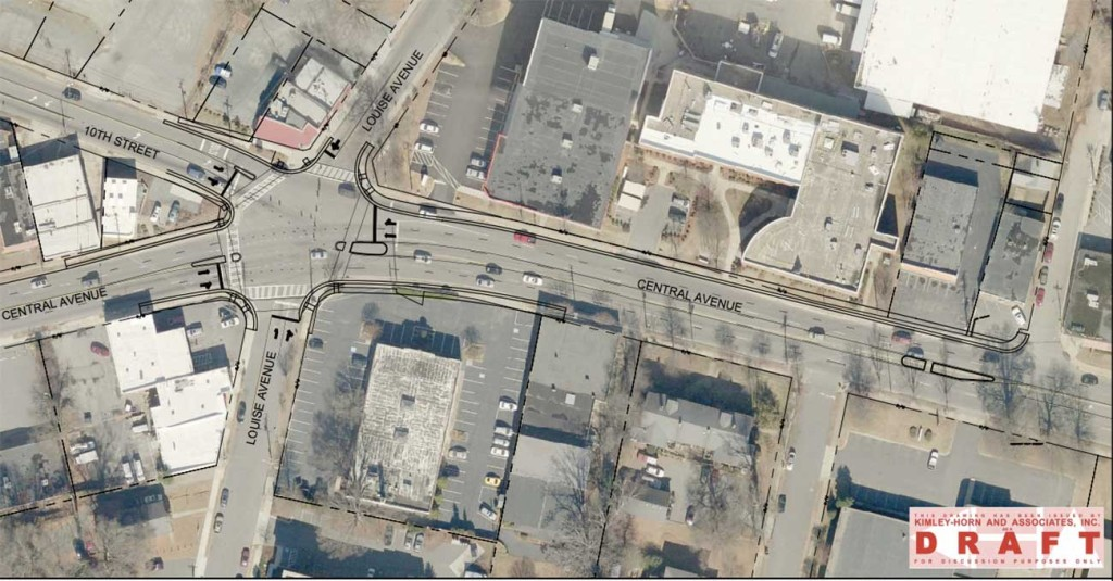 This weird intersection in Plaza Midwood is going to get more pedestrian friendly