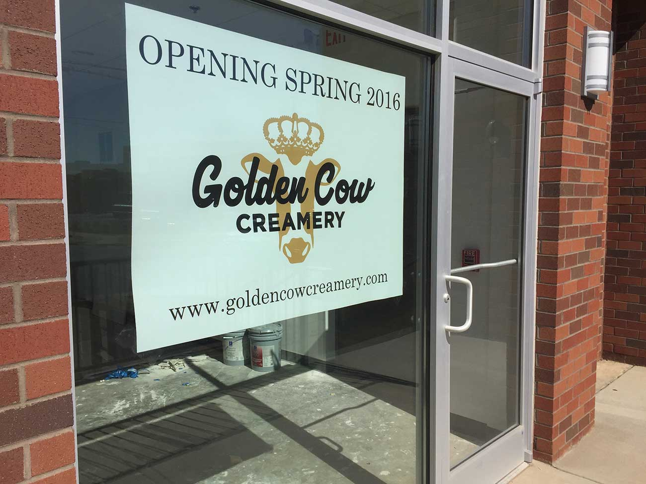 Golden Cow Creamery is looking for help to buy milk and sugar for opening weekend