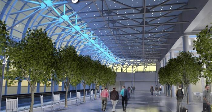 led lighting new charlotte airport terminal