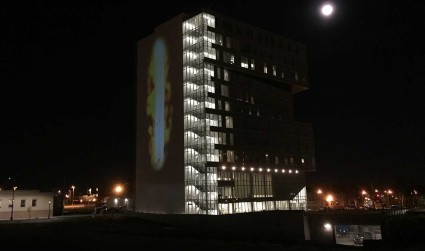 Here's the deal with the projected image on the UNC Charlotte...