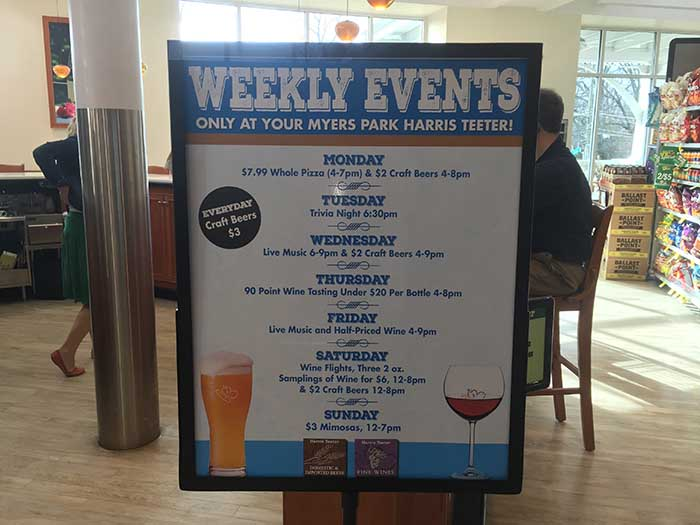 Harris Teeter Weekly Events