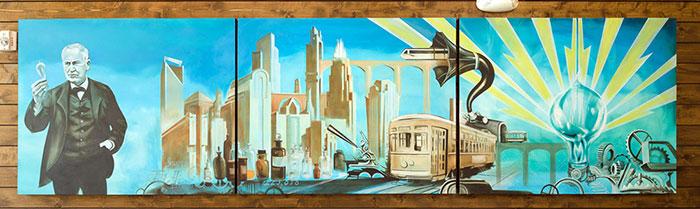 Edison-mural