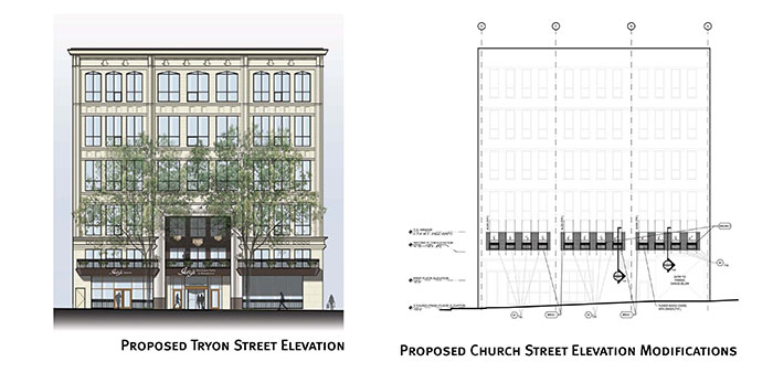 Ivey's-Hotel-Tryon-and-Church-elevations