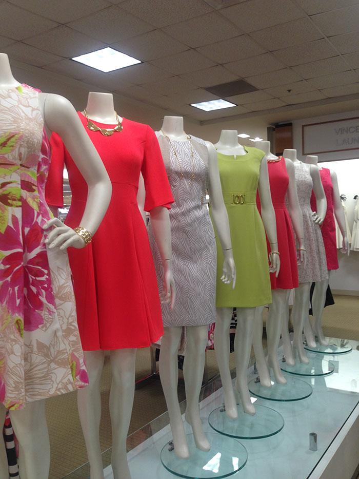 Dress on mannequins