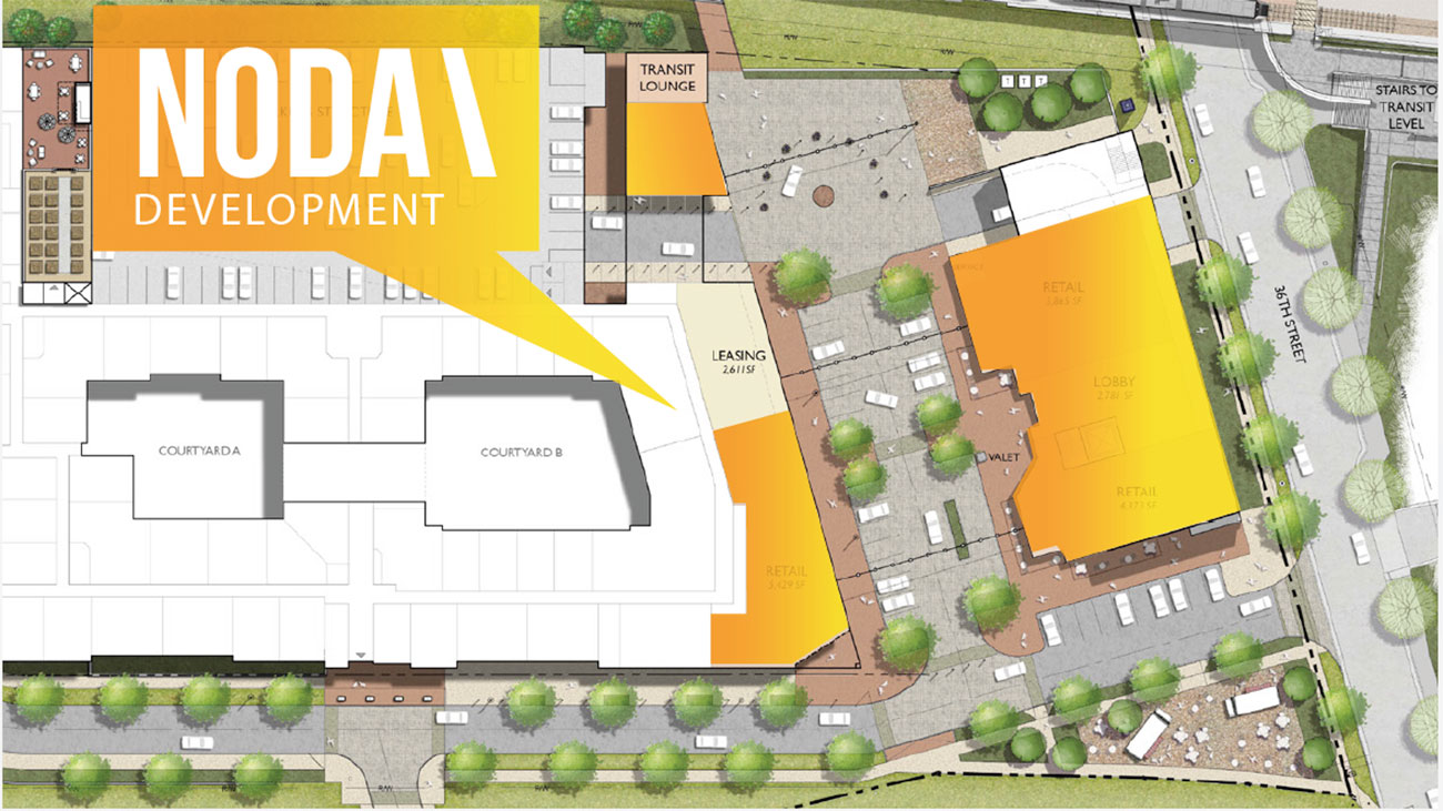 """The new """"NoDa Plaza"""" will have lots of retail spots"""