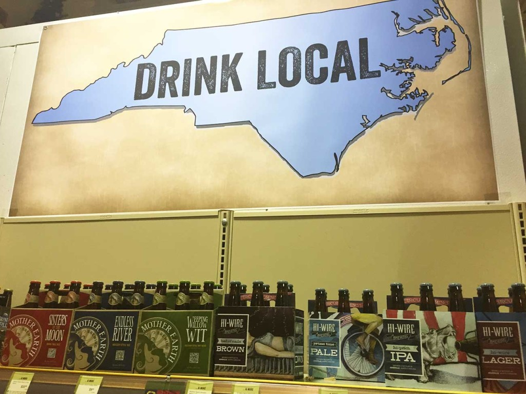 """Does it still count as """"drinking local"""" if it's a beer from Wake Forest?"""