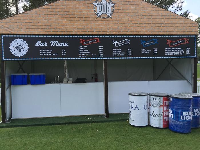 all american pub bar wells fargo golf