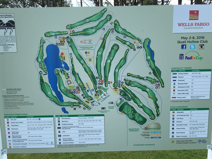 wells fargo golf championship map