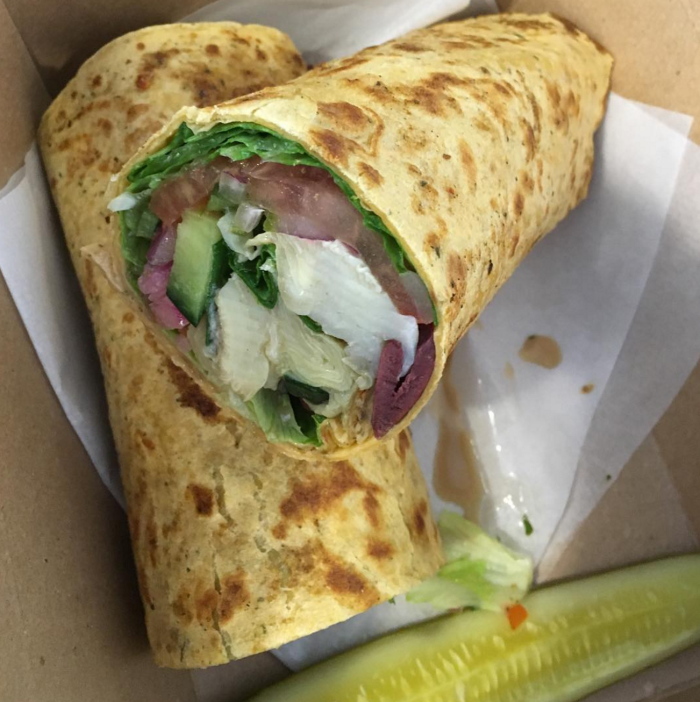 meat and fish co veggie wrap