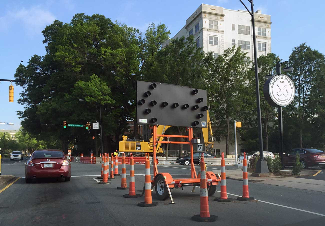 Just two more weeks left on this Morehead Street construction (hopefully)