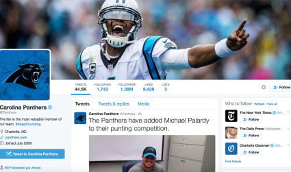 Top tweets by the Panthers according to their social media manager
