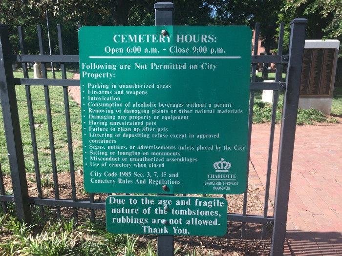 settlers cemetery rules