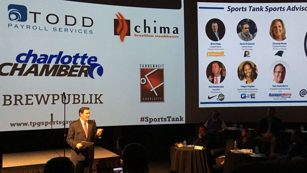 """The Sports Tank pitch event brought the """"Shark Tank"""" entertainment factor to Charlotte"""