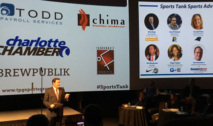 "The Sports Tank pitch event brought the ""Shark Tank"" entertainment factor..."
