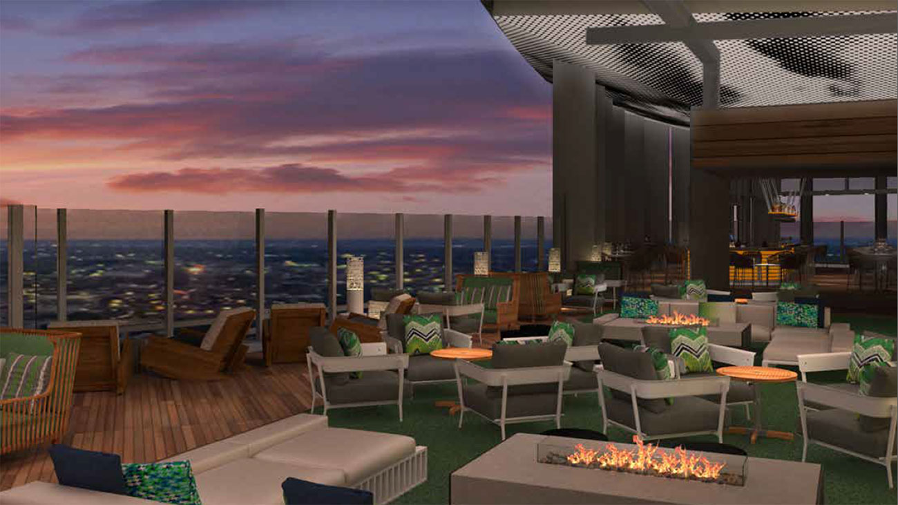 You're going to love the Uptown views from the 217-room Kimpton Hotel and its rooftop bar
