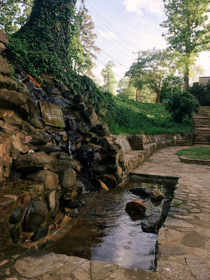 Independence Park waterfall